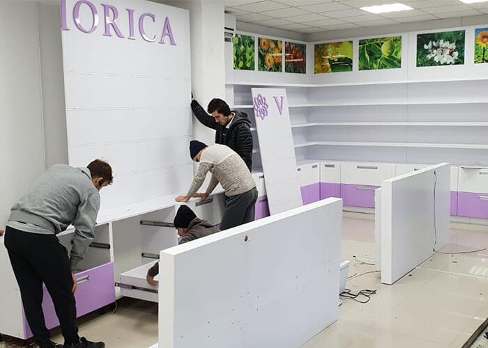 Montare mobilier la noua locatie